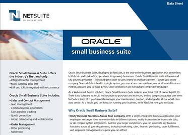 Oracle Small Business Suite